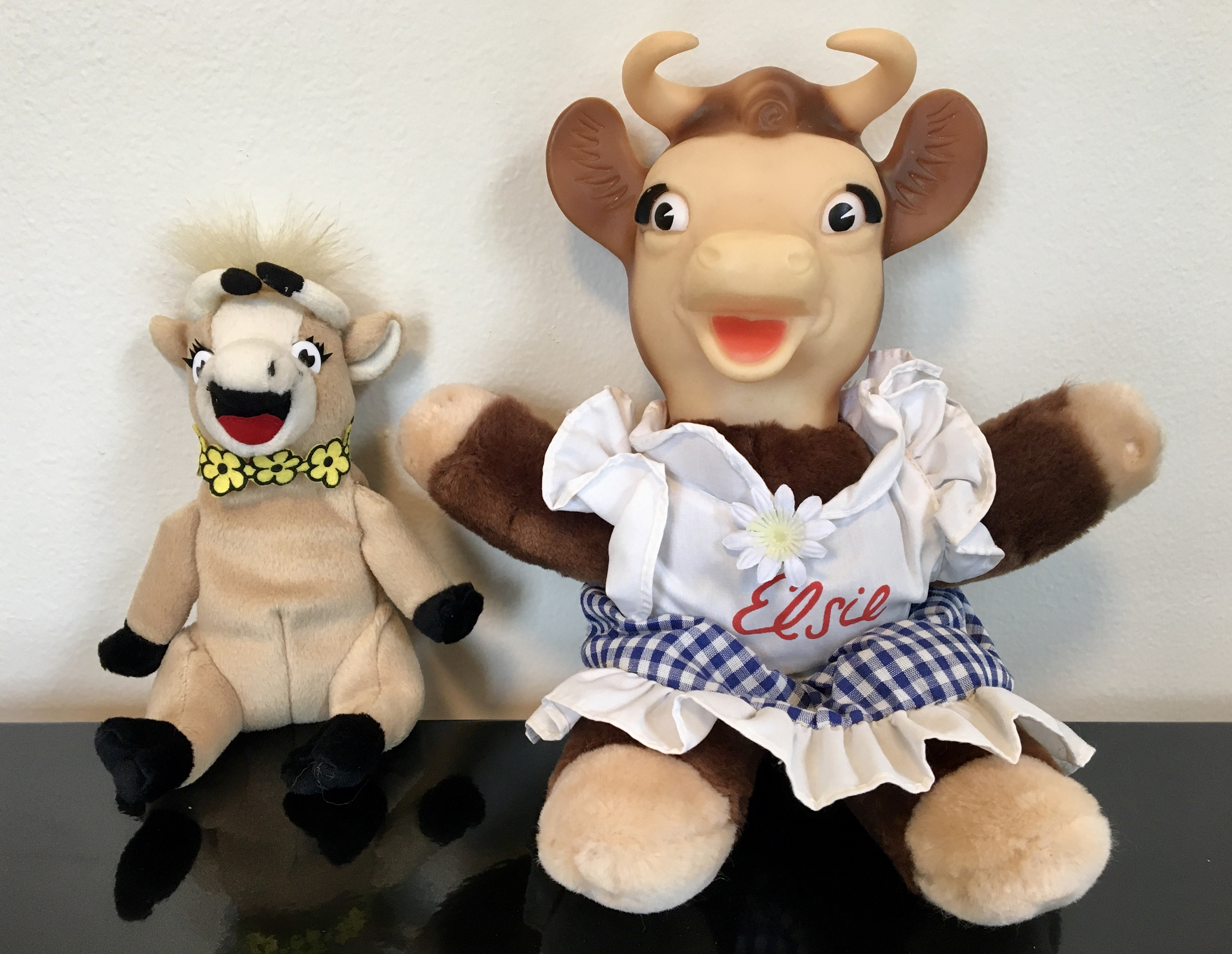 Two Elsie the Cow Dolls